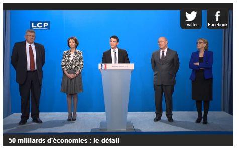 Détail des mesures de Manuel Valls